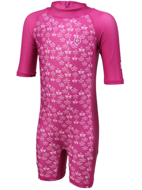 Color Kids Niff UPF AOP Mini Suit Girls Fuchsia Red